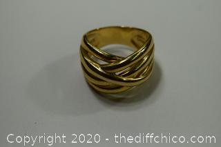 24K Gold Plate over 925 Ring - size 10