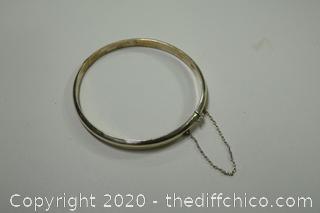 Sterling Silver Bracelet w/Safety Chain