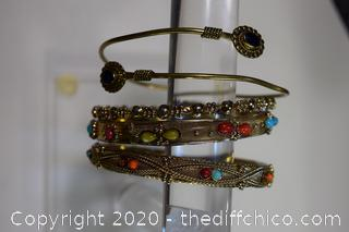 4 Costume Jewelry Bracelets