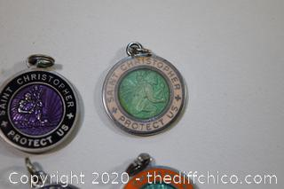 4 Saint Christopher Sterling Silver Medals