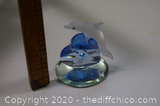 Glass and Crystal Dolphin