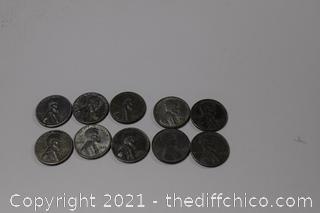 10 - 1943 Steel Penny's