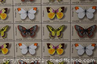 50 - Butterfly 13cent Stamps