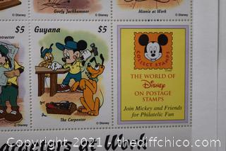 8 - Disney Characters at Work $5 Stamps