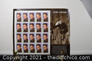 20 Collectible James Cagney 33cent Stamps