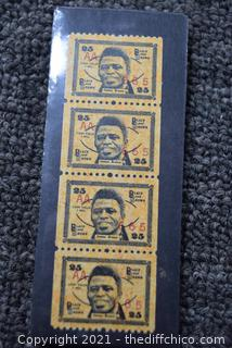 4 Rare Collectible James Brown 25cent Stamps