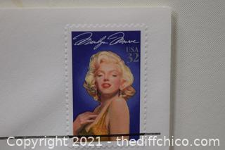 Collectible Marilyn Monroe 32cent Last Day of Sale Stamp