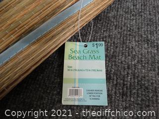 Sea Grass Beach Mat, Blue - New