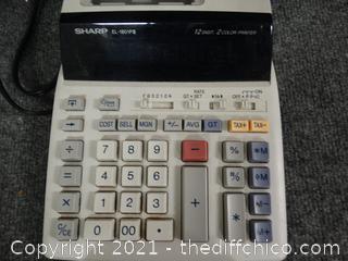 Sharp Color Printer Calculator w/ Refill Paper - Untested