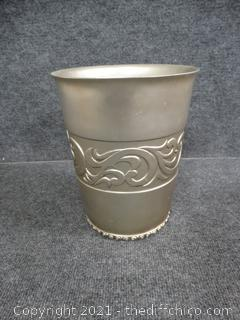 Pewter Wastebasket - Heavy