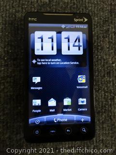 HTC Evo 4G Cellphone w/ Case - Factory Reset