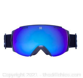 Winterial Frameless Ski & Snowboard Goggles with Case - Black (J21)