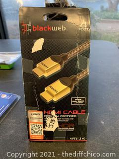 Blackweb BWA17AV001 4′ 4K HDMI Cable (J137)