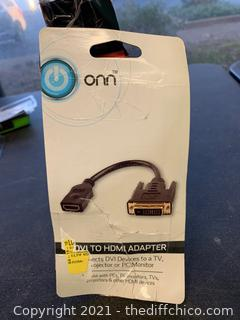 ONN DVI To HDMI Adapter Connector (J138)