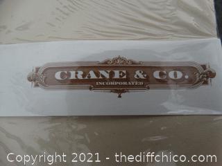 Crane & Co. Stationary Set in Basket