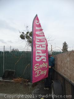 Specials Flag with Stand