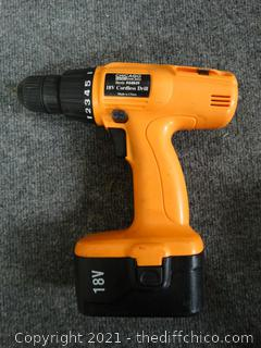 Chicago Electric Power Tools 18V Cordless Drill - Untested