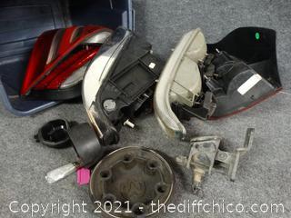 Tub of Car Parts