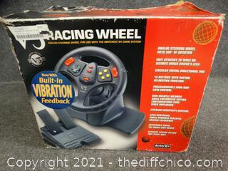 V3 Racing Wheel (Like New) - Nintendo 64
