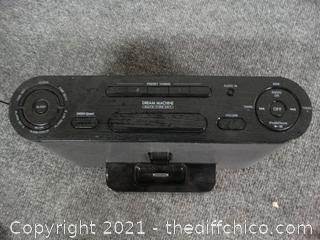 Sony Dream Machine FM/AM Clock Radio IPHONE PORT