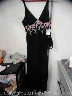 NWT Black Nightie With Panties Size med