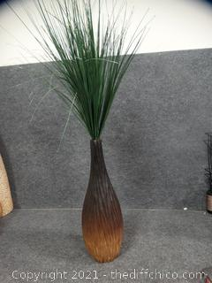 Vase With Artificial Greenery