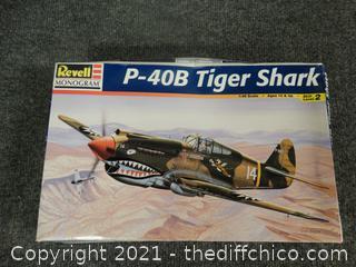 P-40B Tiger Shark Model NEW Sealed