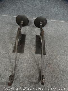 2 Wall Hanging Candle Holders