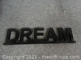 Wood Dream Sign