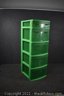 5 Drawer Plastic Organizer
