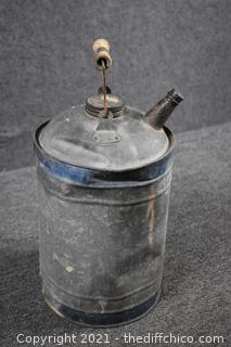 Vintage Galvanized Can