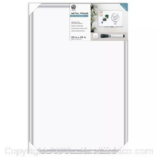 """NEW 23"""" x 35"""" Magnetic Dry Erase Board - Aluminium Frame with Marker"""
