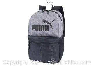 "NEW Puma 18.5"" Backpack - Heather Gray/Black"