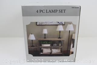 NEW ($119) J. Hunt Home 4 pc Lamp Set Ca