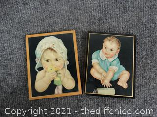 1938 Baby Pictures On Wood