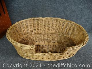 Large Basket, Dog Bed,  Cat bed
