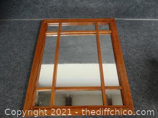 """Wood Framed Mirror 16"""" x 20"""""""