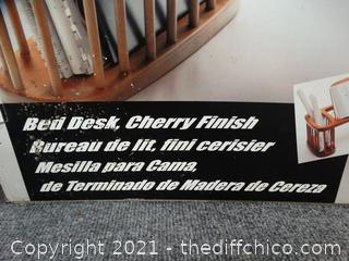 Bed Desk Cherry Finish