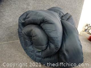 Flannel Lined Blue Sleeping Bag