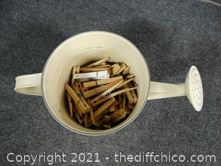 Water Pail With Clothes pins
