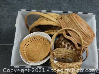 Flip Top Tub Of Baskets