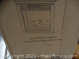 """Life Pro Infrared Quartz Fireplace  28""""L  X 11"""" W  X  20""""T"""