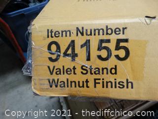Valet Stand Walnut Finish