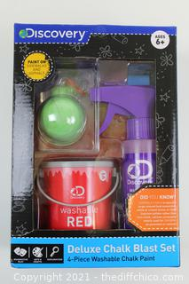 Discovery Kids Deluxe Chalk Blast Set 4-piece Washable Chalk Paint Red