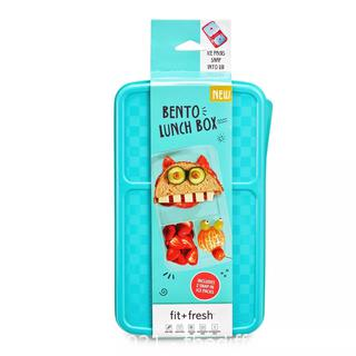 NEW Fit & Fresh Bento Lunch Box with 2 Ice Packs