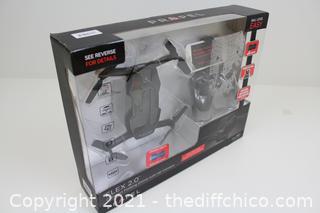 Propel Flex 2.0 Compact Folding Drone W/ HD Camera & Remote W/ Phone Holder NEW