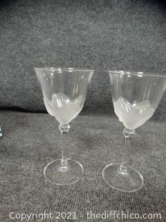 2 Crystal Glasses