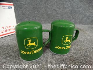 John Deere Green Salt & Pepper Shakers
