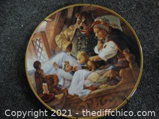 Goldilocks & The 3 Bears Numbered Plate