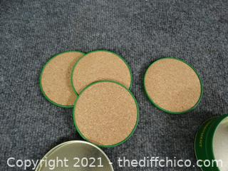 John Deere Green Coasters
